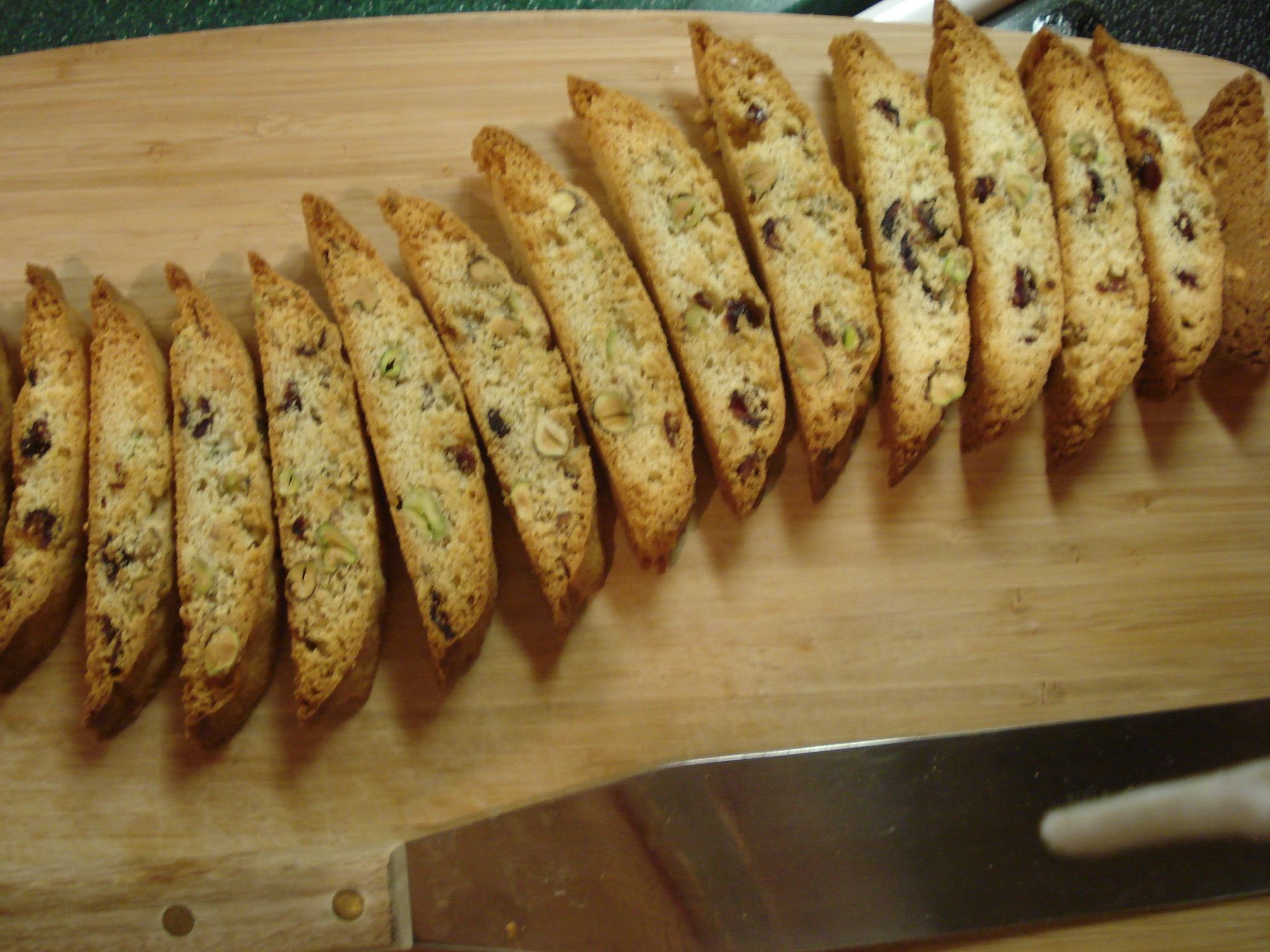 Finished Cranberry Pistachio Biscotti