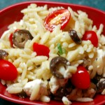 Orzo, Feta and Tomato Salad
