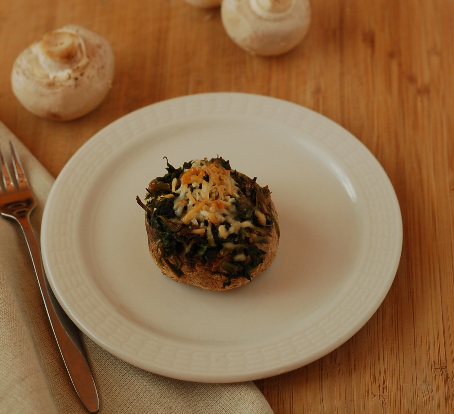 Mushrooms - stuffed with spinach