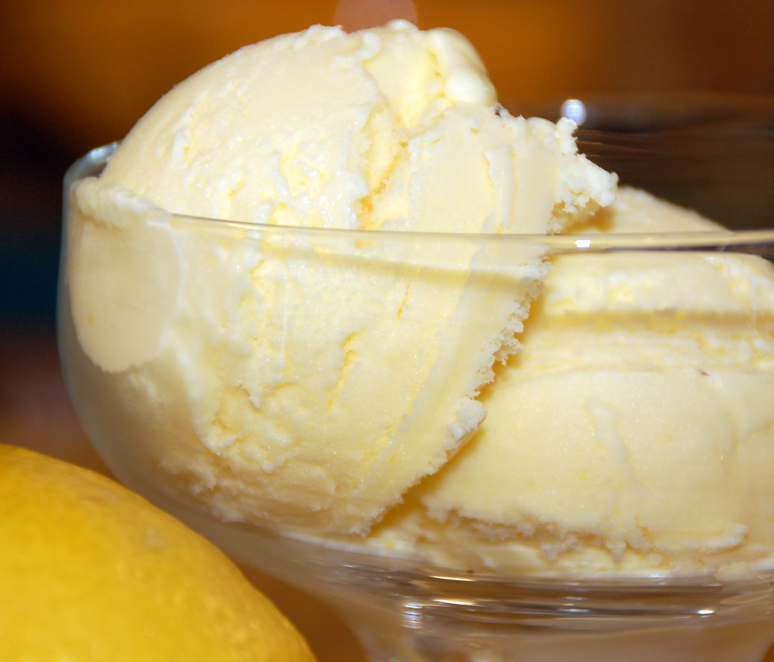 Lemon Olive Oil Ice Cream