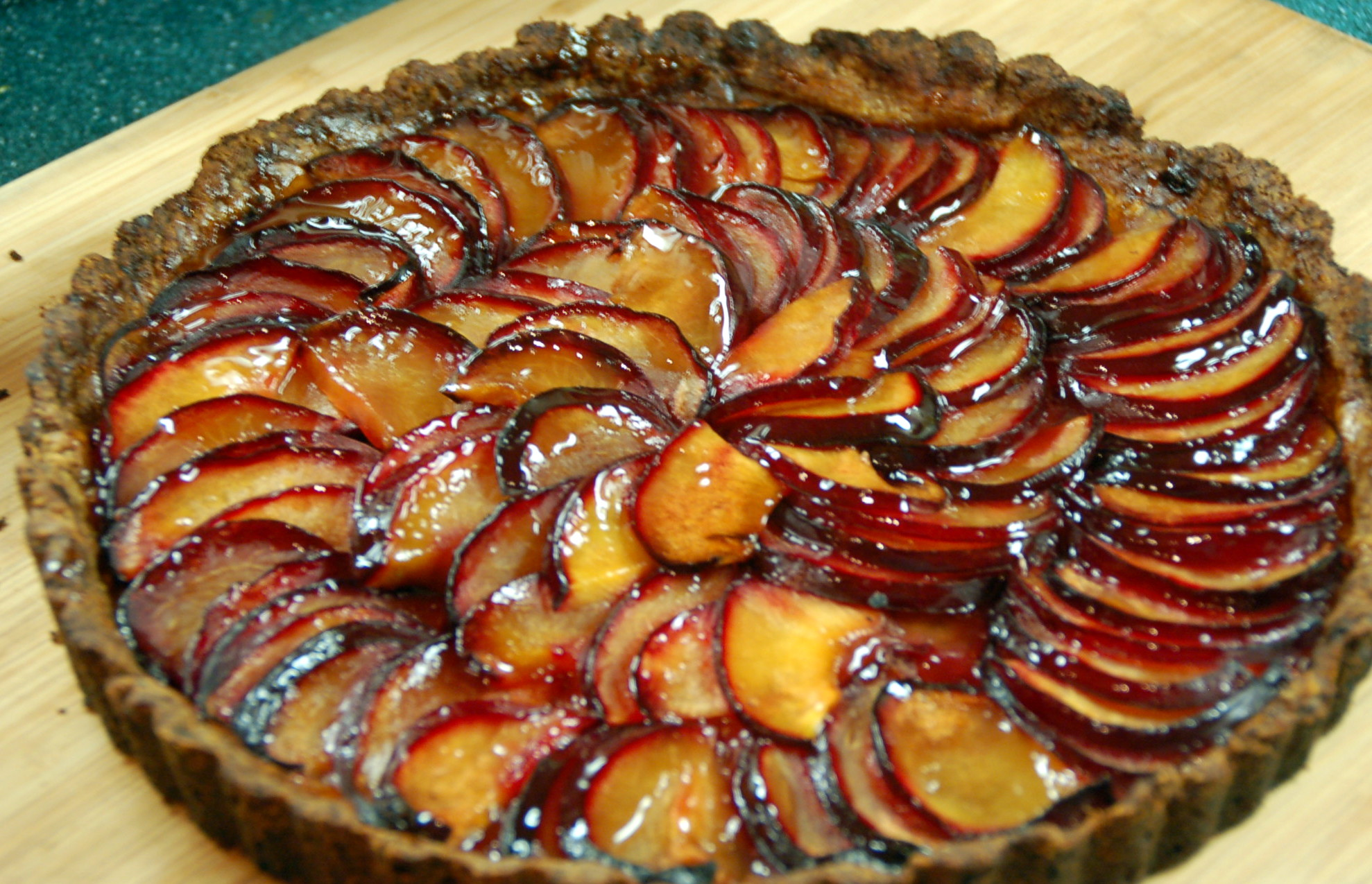 Plum Tart with Lemon Shortbread Crust