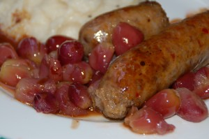 sausage and grapes 1