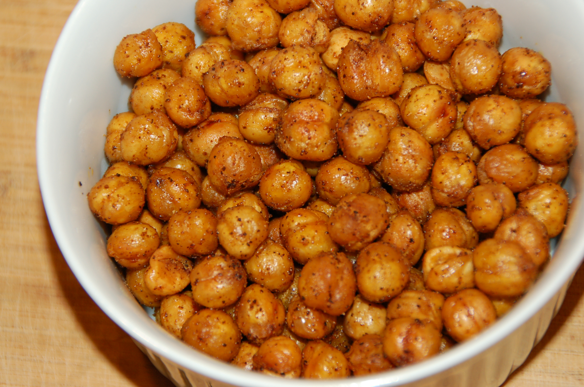 Spicy Oven Roasted Chickpeas