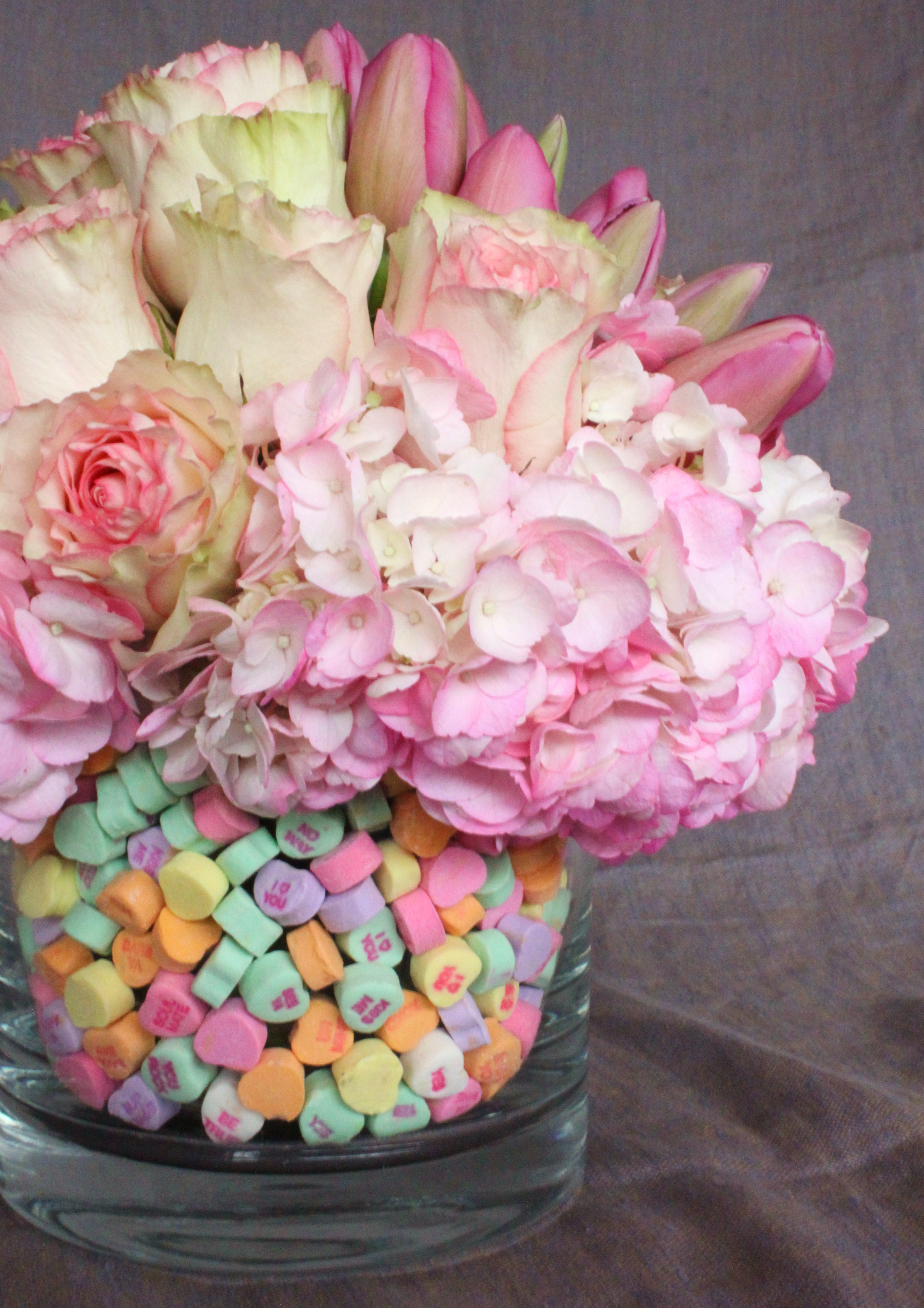 Easter Flowers In A Malted Egg Vase