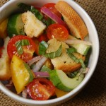 A great summer side - Rustic Panzanella (Bread Salad) from ascrumptiouslife.com