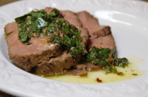 Steak with Chimmichurri from ascrumptiouslife.com