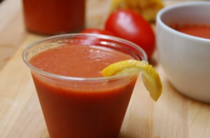 Gazpacho served in a glass from ascrumptiouslife.com