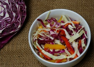 Texas Coleslaw - a non-mayo based coleslaw - colorful, flavorful and fun from ascrumptiouslife.com