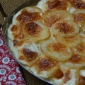 Potatoes Cooked in Cream, using Klondike Royale potatoes - from ascrumptiouslife.com