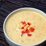 Corn and Red Pepper Soup from ascrumptiouslife.com