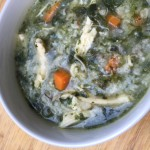 Chicken, Rice and Spinach Soup