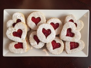 A Platter of Linzer Cookies from a scrumptuouslife.com
