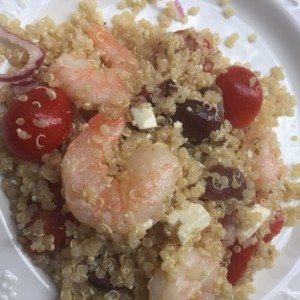 Gluten Gree Quinoa Salad with Shrimp from ascrumptiouslife.com