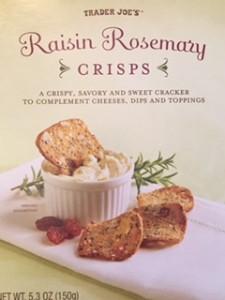 Tradr Joe's Raisin & Rosemay Crisps - ascrumptiouslife.com